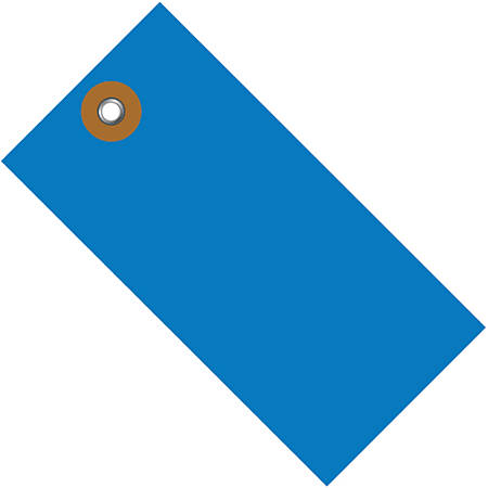 """Office Depot® Brand Tyvek® Shipping Tags, 5 1/4"""" x 2 5/8"""", Blue, Case Of 100"""