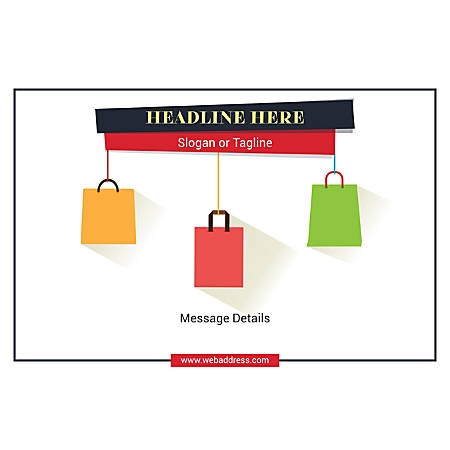 Custom Poster, Shopping Bags, Horizontal