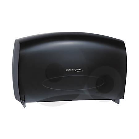 KIMBERLY-CLARK IN-SIGHT JRT Combo Tissue Dispenser, 20 2/5w x 5 4/5d x 13 1/8h, Smoke/Gray