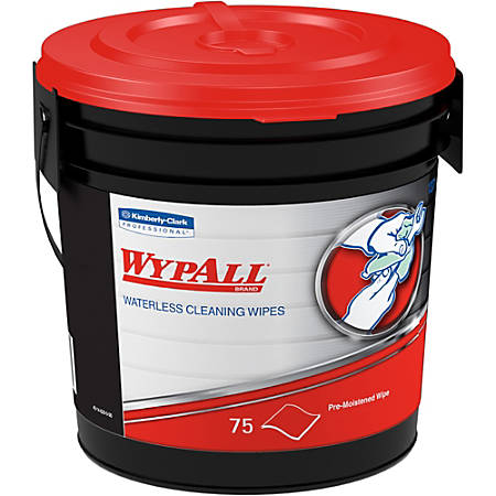 "Wypall Waterless Cleaning Wipes - Wipe - Orange Citrus Scent - 9.50"" Width x 12"" Length - 75 / Bucket - 6 / Carton"