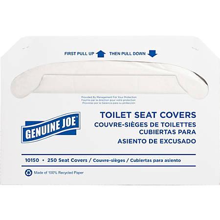 Genuine Joe Toilet Seat Covers, White, Pack Of 2,500
