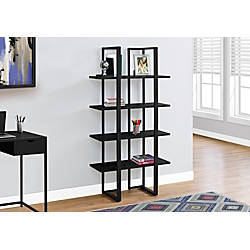 office depot shelves monarch specialties 4 shelf metal bookcase black by office 23910