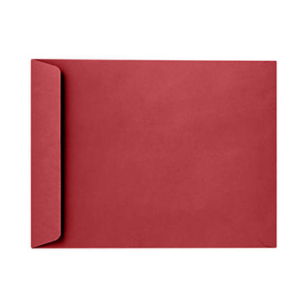 "LUX Open-End Envelopes With Peel & Press Closure, 6"" x 9"", Ruby Red, Pack Of 1,000"