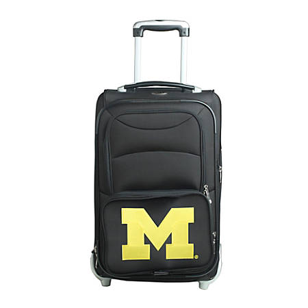 "Denco Sports Luggage NCAA Expandable Rolling Carry-On, 20 1/2"" x 12 1/2"" x 8"", Michigan Wolverines, Black"