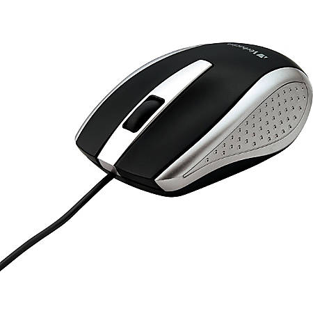Verbatim Corded Notebook Optical Mouse - Silver