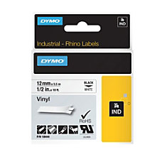 DYMO 18444 Rhino Vinyl Black On