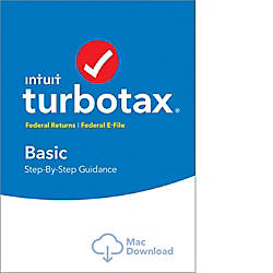 TurboTax Basic Fed Efile 2017 Mac