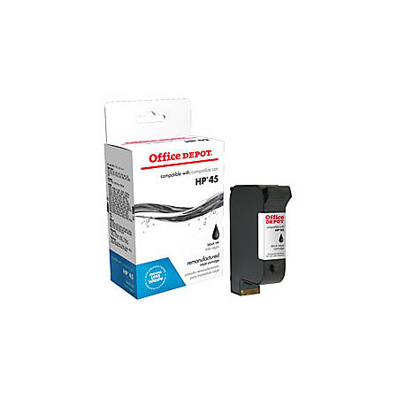 Office Depot® Brand 45 Remanufactured Ink Cartridge Replacement For HP 45 Black