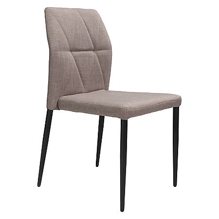 Zuo Modern Revolution Dining Chairs, Beige, Set Of 2