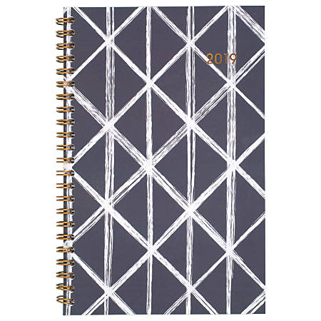 "Cambridge® Sloane Diamond Customizable Weekly/Monthly Planner, 4 7/8"" x 8"", January to December 2019"