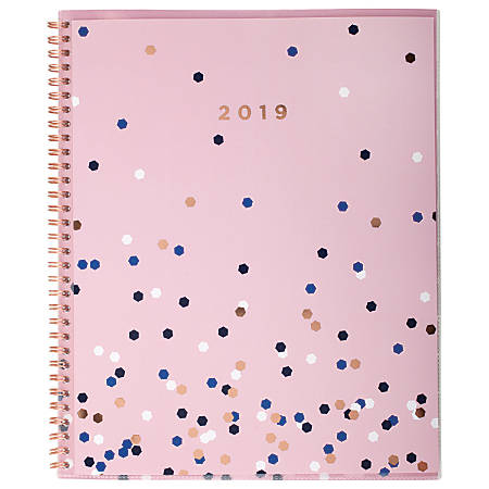 "Cambridge® Confetti Customizable Weekly/Monthly Planner, 8 1/2"" x 11"", January to December 2019"