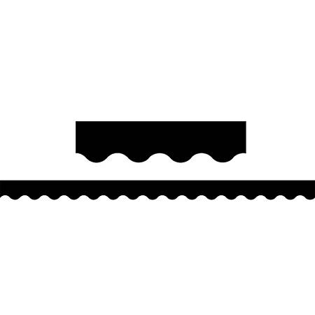 "Teacher Created Resources Border Trim, Scalloped, 2 3/16"" x 35"", Black, Pre-K - College, Pack Of 12"