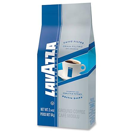 Lavazza Gran Filtro 100% Arabica Ground - Regular - South American Arabica, Fruity - Light - 2.3 oz Per Carton - 30 Packet - 30 / Carton