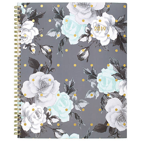 """Cambridge® Tea Time Weekly/Monthly Planner, 8 1/2"""" x 11"""", January to December 2019"""