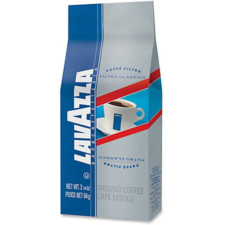 Lavazza Filtro Classico Ground - Regular - House Blend, South American Arabica - 2.3 oz Per Carton - 30 Packet - 30 / Carton
