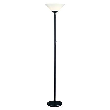 """Adesso® Aries Floor Lamp, 73""""H, White/Black"""