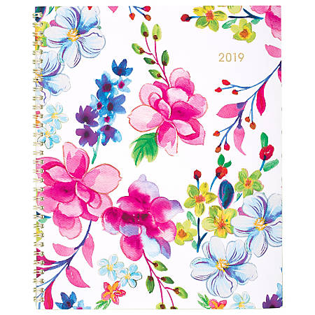 """Cambridge® Julep Weekly/Monthly Planner, 8 1/2"""" x 11"""", January to December 2019"""