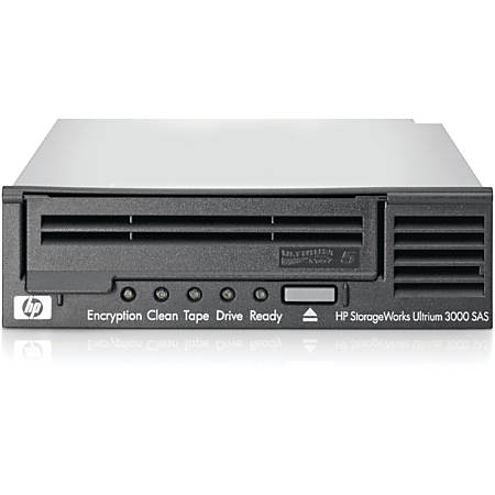 "HPE LTO-5 Ultrium 3000 SAS Internal Tape Drive - LTO-5 - 1.50 TB (Native)/3 TB (Compressed) - SAS - 5.25"" Width - 1/2H Height - Internal - 142.22 MB/s Native - 291.27 MB/s Compressed - Linear Serpentine - 3 Year Warranty"