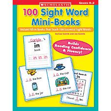 Scholastic 100 Sight Word Mini Books