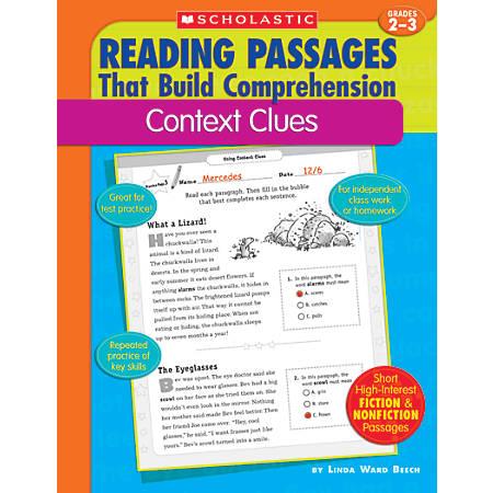Scholastic Comprehension — Context Clues — Grades 2-3