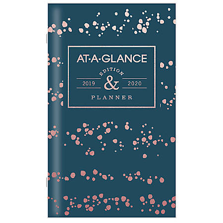 "AT-A-GLANCE® Badge Splatter Dots 25-Month Monthly Pocket Planner, 3 5/8"" x 6 1/16"", January 2019 to January 2021"