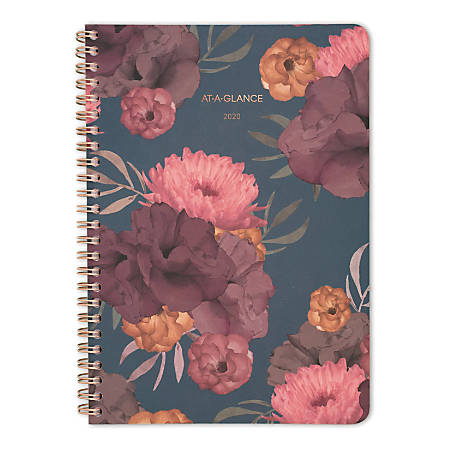 "AT-A-GLANCE® Dark Romance 13-Month Weekly/Monthly Planner, 5-1/2"" x 8-1/2"", Multicolor, January 2020 to January 2021"