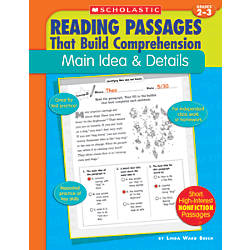 Scholastic Comprehension Main Idea Grades 2