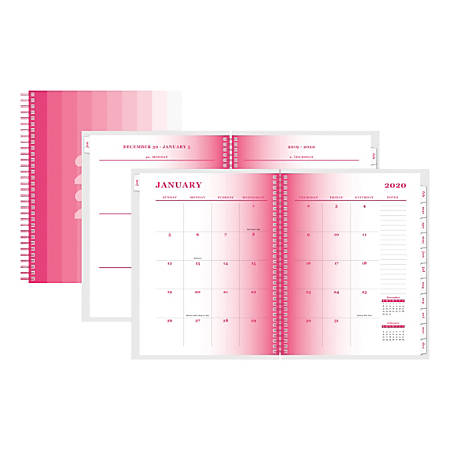 "Office Depot® Brand Weekly/Monthly Planner, 5"" x 8"", Ombre, January To December 2020"