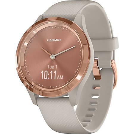 Garmin vivomove 3S GPS Watch- Touchscreen - Bluetooth - GPS - 120 Hour - Round - 1.54 - Rose Gold - Light Sand Case - Stainless Steel Bezel - Fiber Reinforced Polymer Case