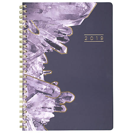 "Cambridge® Crystal Weekly/Monthly Planner, 4 7/8"" x 8"", January to December 2019"