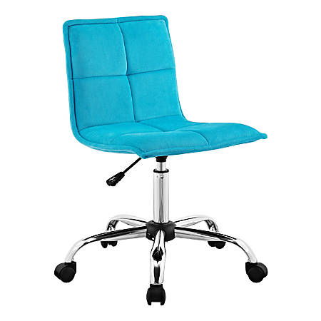Linon Marin Fabric Mid-Back Chair, Blue/Silver