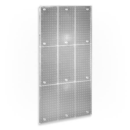 "Azar Displays Pegboard Wall Panel, 24"" x 48"", Clear"
