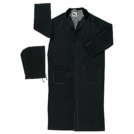 Classic Plus Rider Rain Coat, 0.35 mm PVC/Polyester, Black, 49 in 2X-Large