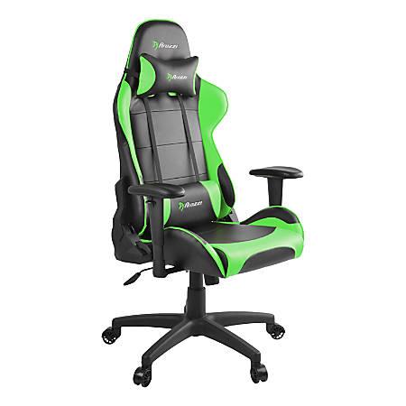 Arozzi Verona V2 Faux Leather High-Back Chair, Black/Green