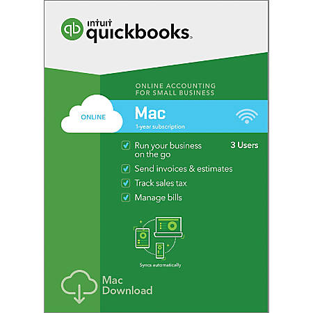 QuickBooks® Online 2019, 1-Year Subscription, For Apple® Mac®, Download  Item # 6656858