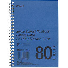 Mead Heavyweight Single Subject Notebook 80