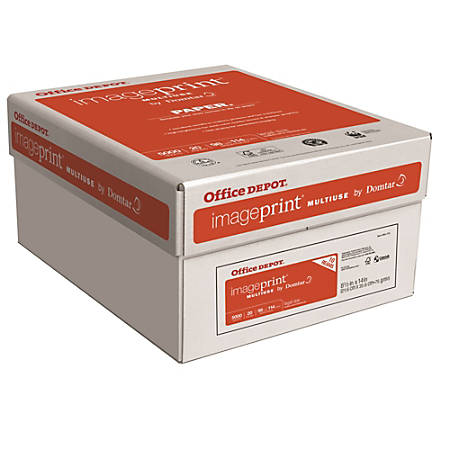 Office Depot® Brand ImagePrint® Multiuse Paper, Legal Paper Size, 20 Lb, FSC® Certified, White, 500 Sheets Per Ream, Case Of 10 Reams
