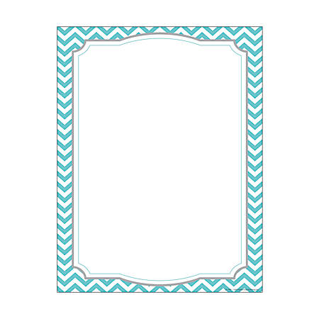 "Barker Creek Computer Paper, 8 1/2"" x 11"", Turquoise Chevron, Pack Of 50 Sheets"