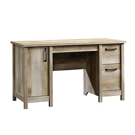 Sauder® Cannery Bridge Computer Desk, Lintel Oak