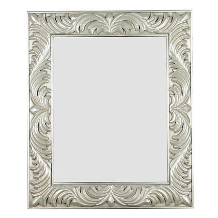 "Kenroy Home Wall Mirror, Antoinette, 38""H x 32""W x 1""D, Silver"