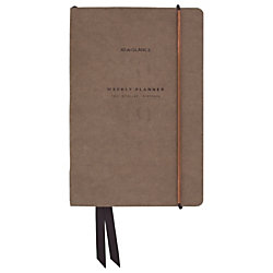 """AT-A-GLANCE® Signature Collection™ 13-Month Weekly/Monthly Planner, 5 3/4"""" x 8 1/2"""", Olive, January 2019 to January 2020"""