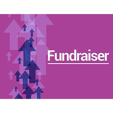 "Customizable Yard Sign, Fundraiser Purple, 18"" x 24"""