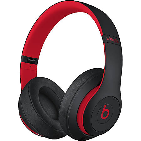 Beats by Dr. Dre Studio3 Headset - Stereo - Mini-phone - Wired/Wireless - Bluetooth - Over-the-head - Binaural - Circumaural - Noise Canceling - Black/Red