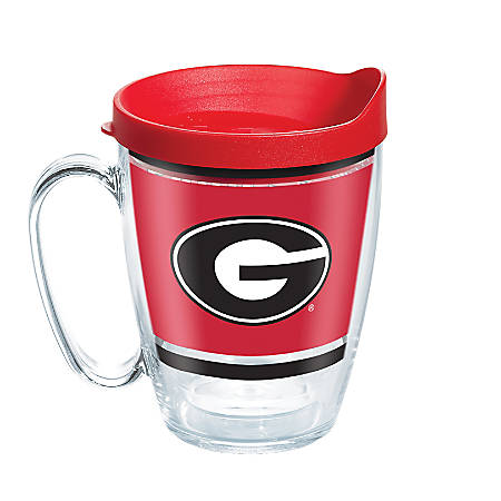 Tervis NCAA Legend Coffee Mug With Lid, 16 Oz, Georgia Bulldogs