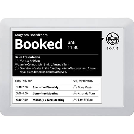 "JOAN 9.7"" Meeting Room Scheduler, Gray"