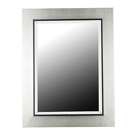 """Kenroy Home Wall Mirror, Dolores, 38""""H x 30""""W x 2""""D, Silver"""