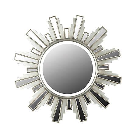 "Kenroy Home Wall Mirror, Francisco, 34""H x 34""W x 1""D, Silver"