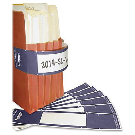 """Tabbies File Pocket Handles, TAB68807, 2""""W x 9 5/8""""L, Dark Blue, Tyvek, Pack Of 48"""