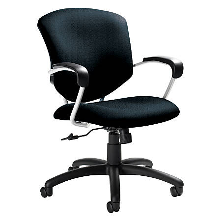 "Global® Supra™ Mid-Back Tilter Chair, 39""H x 26""W x 26""D, Tungsten Frame, Cobalt Blue Fabric"