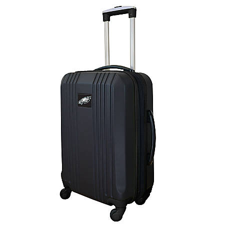 "Mojo L208 ABS Carry-On Hardcase Spinner, 21""H x 14""W x 9-1/2""D, Philadelphia Eagles, Black"